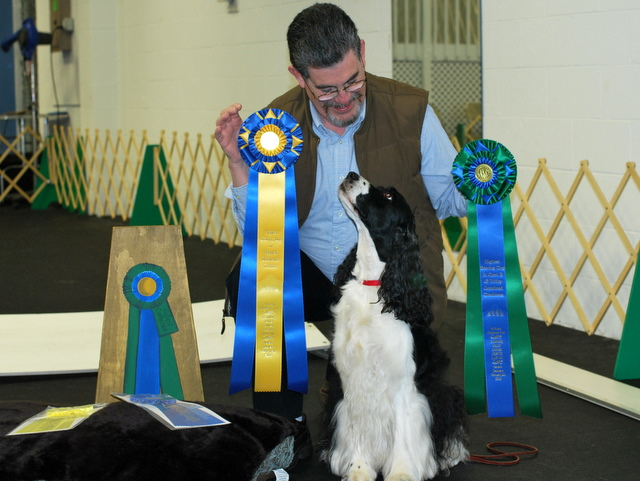 Michael Specht with Daisy, winning Best Combined Score at the Academy Obedience Trial